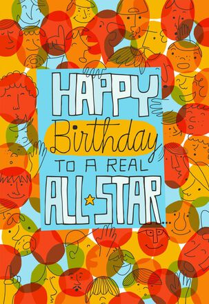 All-Star Pop-Up Musical Birthday Card