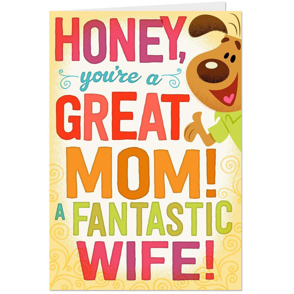 Honey Youre Great Pop Up Birthday Card For