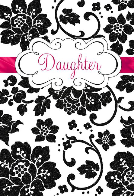 floral brocade birthday card for daughter greeting cards hallmark