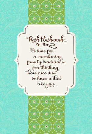 Family Traditions Rosh Hashanah Card for Dad