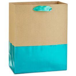 "Dipped Turquoise Medium Gift Bag, 9.5"", , large"