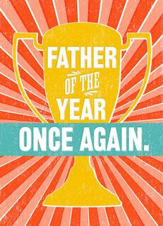 Father of the Year Trophy Father's Day Card,