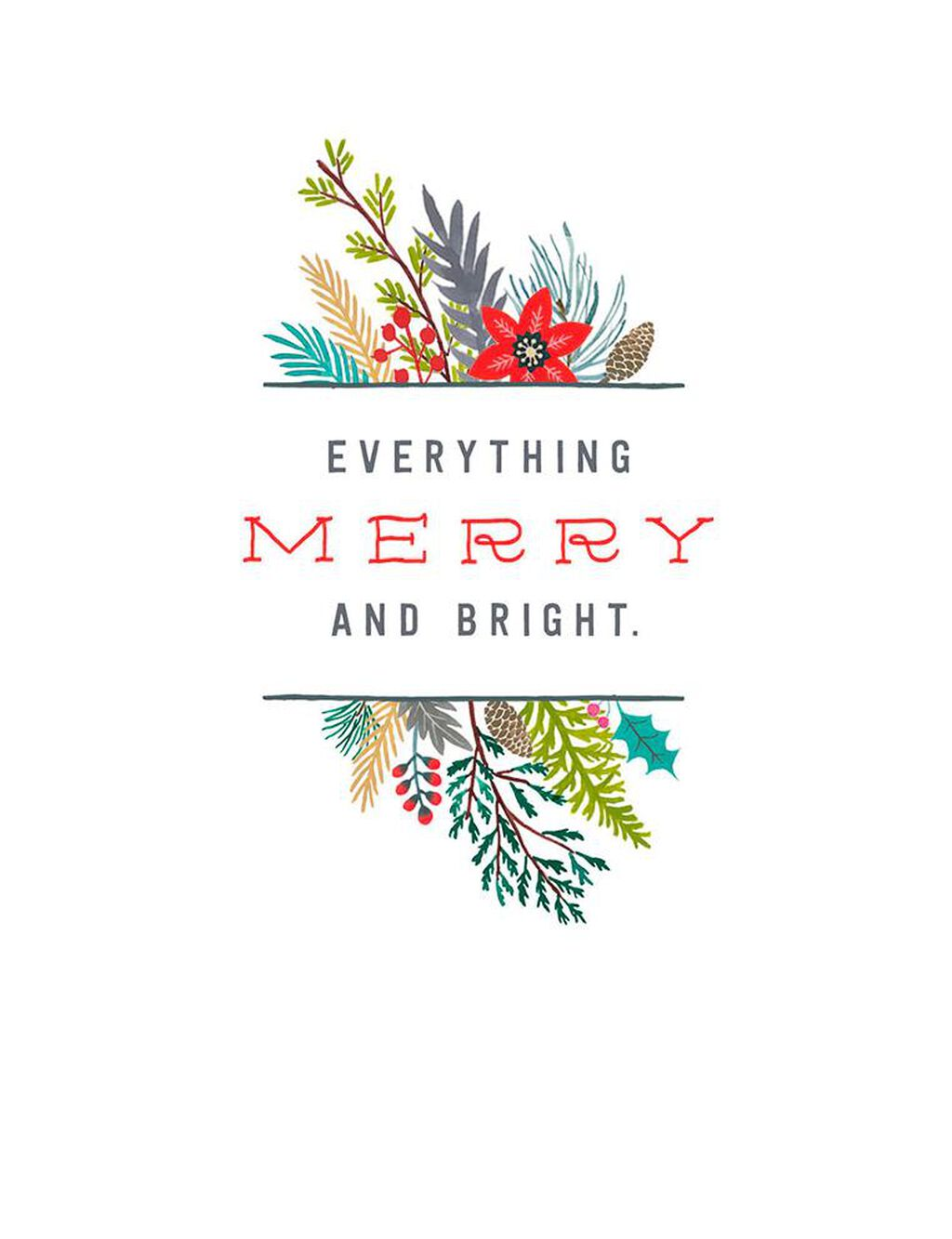 Everything Merry and Bright Christmas Card - Greeting Cards - Hallmark