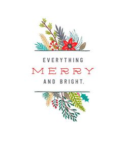Everything Merry and Bright Christmas Card,