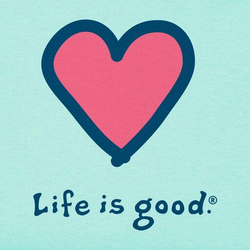 cdc030d5a1bbe ... Life is Good Women's Heart Light Green T-Shirt,