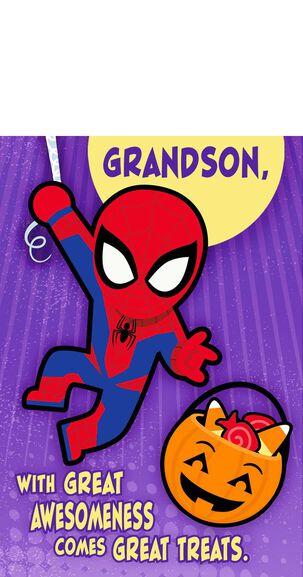 Spider-Man Great Treats Pop Up Halloween Card for Grandson