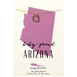 State of Arizona Necklace in 14k Yellow Gold-Plate, , large
