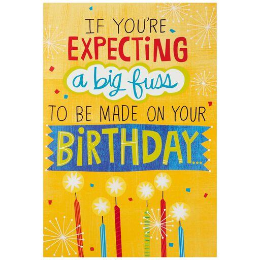 Make A Fuss Cake Decoration Jumbo Birthday Card 16