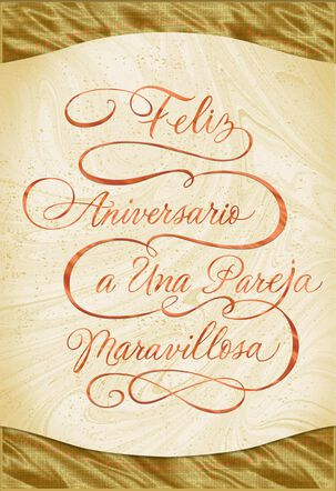 Wonderful Years Spanish-Language Anniversary Card
