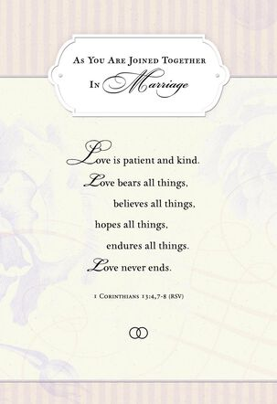 God's Plans Religious Wedding Card