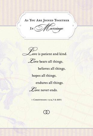 Gods Plans Religious Wedding Card