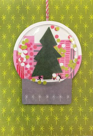 Snow Globe Ornament and Christmas Card