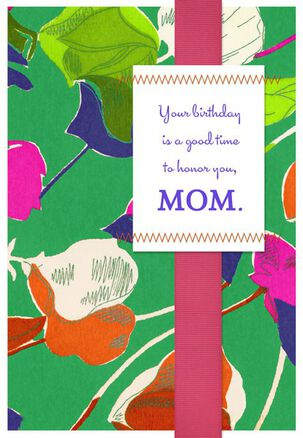 Honor Mom on her Birthday Card