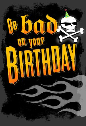 Flame and Skulls Musical Birthday Card