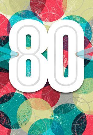 Circles 80th Birthday Card