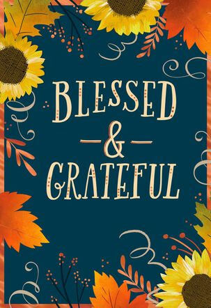 Blessed and Grateful Religious Thanksgiving Card