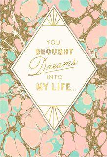 Diamond Dreams Love Card,