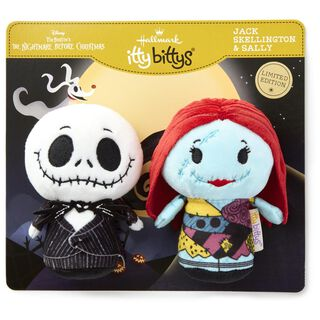 itty bittys® Tim Burton's The Nightmare Before Christmas Jack Skellington and Sally Stuffed Animals, Set of 2,