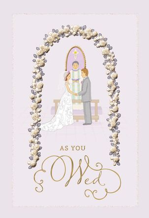 God Bless Your Life Together Religious Wedding Card