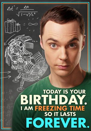 Freezing Time Birthday Card