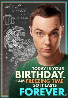 Freezing Time Birthday Card,