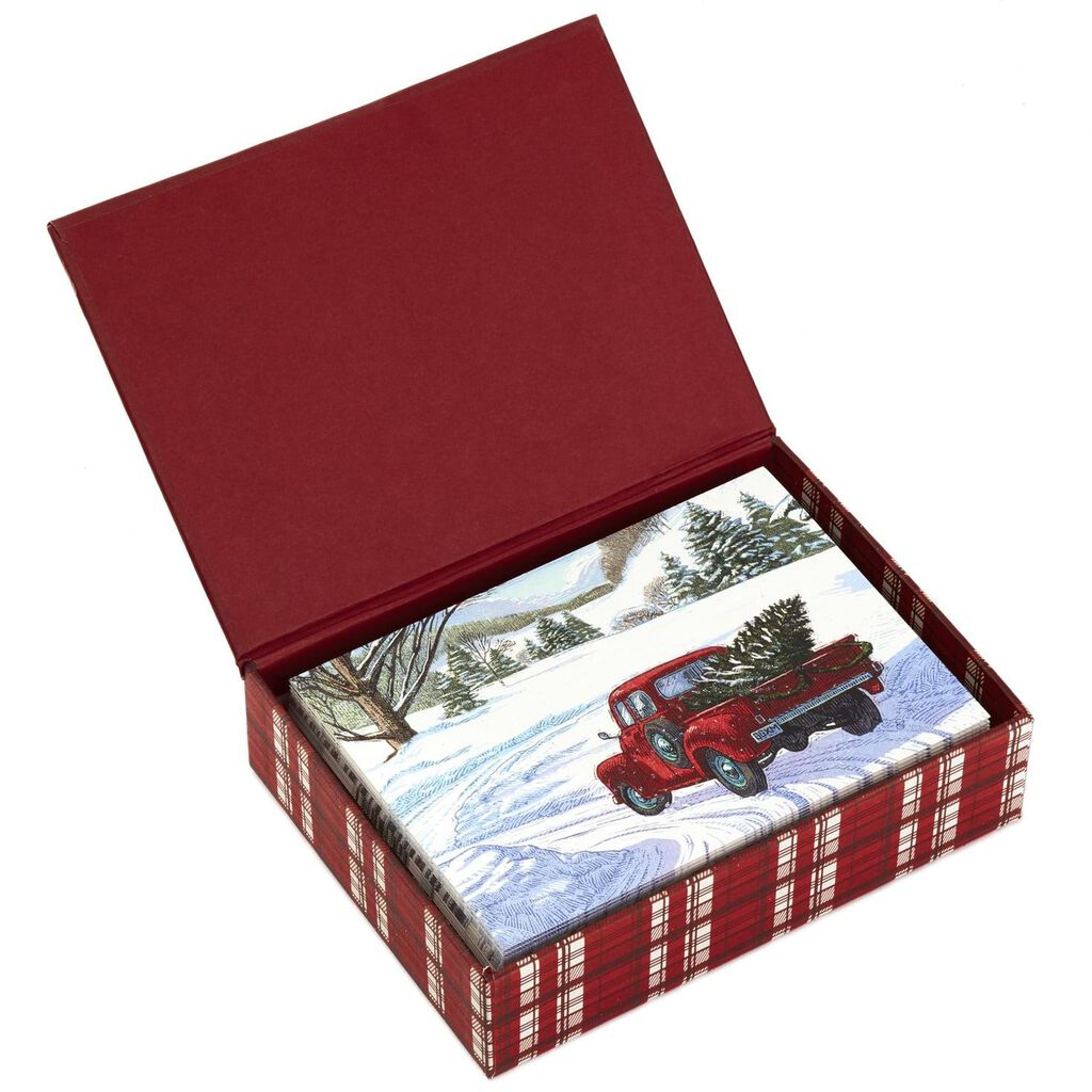 Christmas In Evergreen Truck.Christmas In Evergreen Assorted Christmas Note Cards Box Of 24