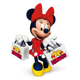 Sassy Minnie Mouse Yellow Shoe Shop Ornament, , large