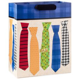 "Colorful Ties Father's Day Large Gift Bag, 13"", , large"