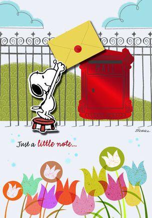 Snoopy Sending Birthday Wishes Birthday Card