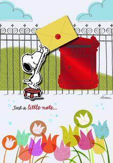 Snoopy Sending Birthday Wishes Birthday Card,