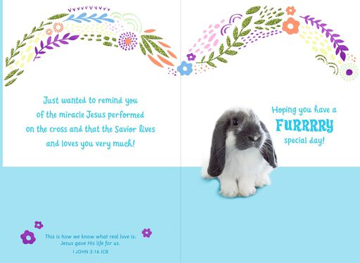To a Special Somebunny Religious Easter Card,