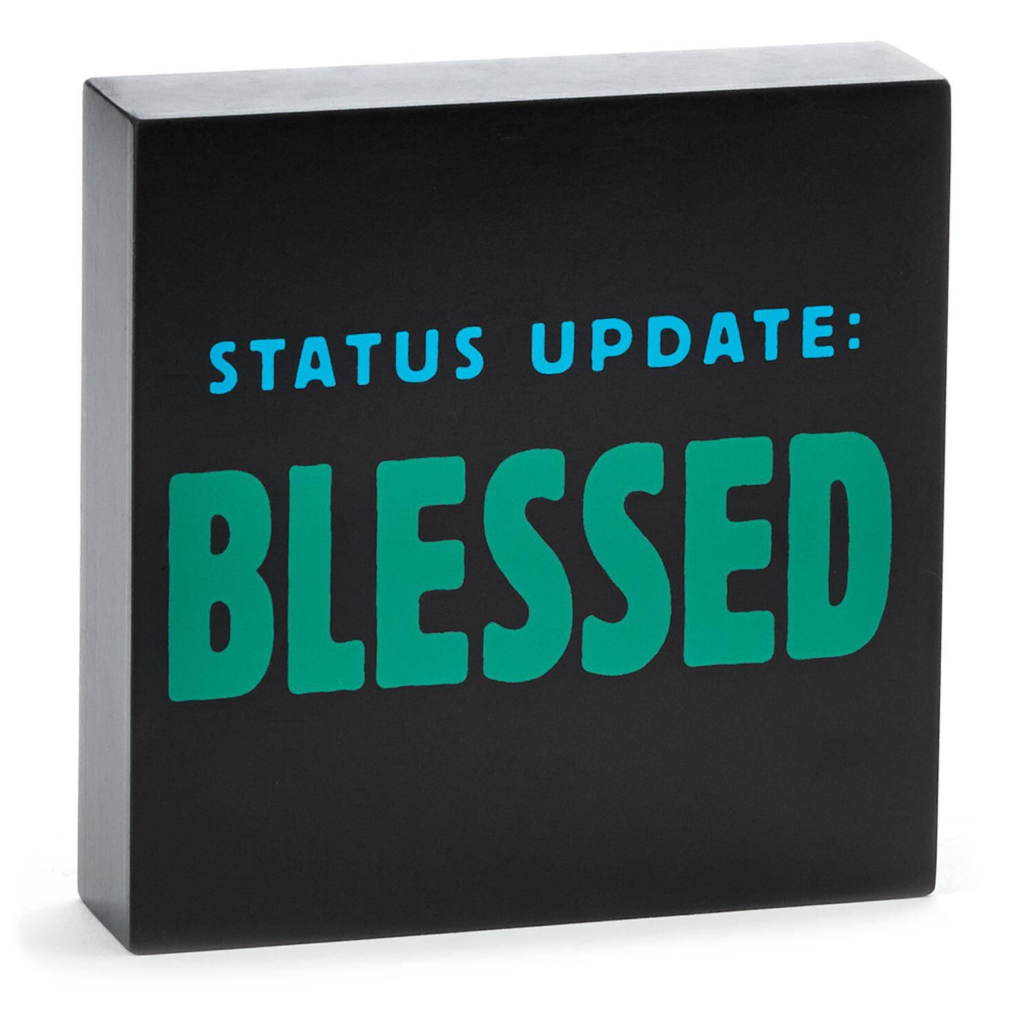 blessed sentiment print plaques signs hallmark