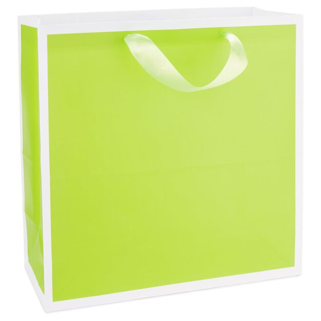 Chartreuse large square gift bag 105 gift bags hallmark chartreuse large square gift bag 105 negle Choice Image