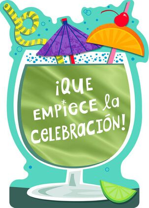 "Let the Fun Begin Large Spanish-Language Birthday Card, 12"""