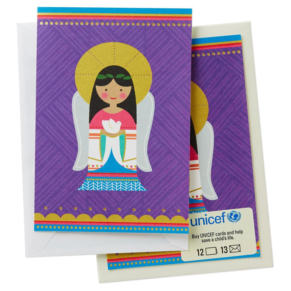 UNICEF Graphic Angel Christmas Cards, Box of 12 - Boxed Cards - Hallmark