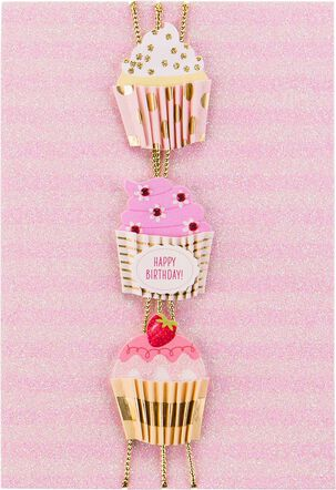 Three Cupcakes Birthday Card