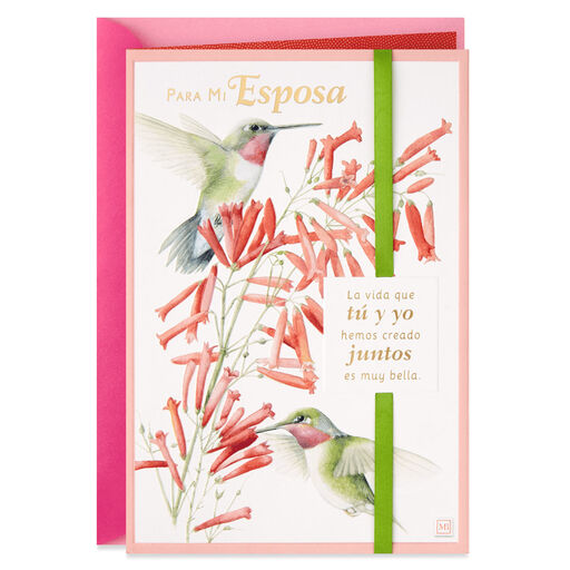 Marjolein Bastin Hummingbirds Spanish Language Mothers Day Card For Wife