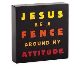 Attitude Fence Sentiment Print, , large