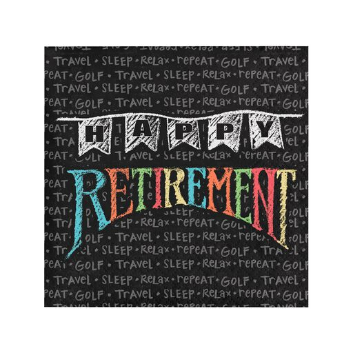 6ba15369 Chalk Happy Retirement Cocktail Napkins, Pack of 16,