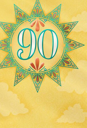 Decorative Sunshine 90th Birthday