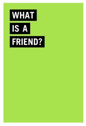 Definition of a Friend Funny Birthday Card