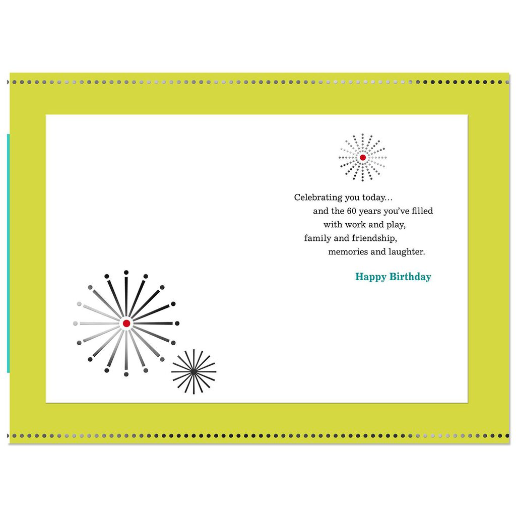 Bright And Bold 60th Birthday Card
