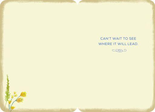 A New Adventure Begins Encouragement Card,