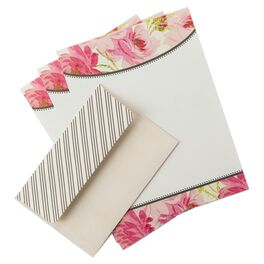 Pink French Rose Stationery & Envelopes, 20 Sheets, , large
