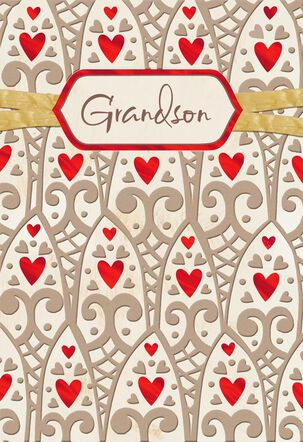 Incredible Grandson Valentine's Day Card