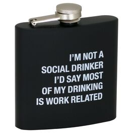 About Face I'm Not a Social Drinker Flask, , large