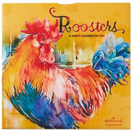 Roosters 2018 Wall Calendar, 12-Month, , large