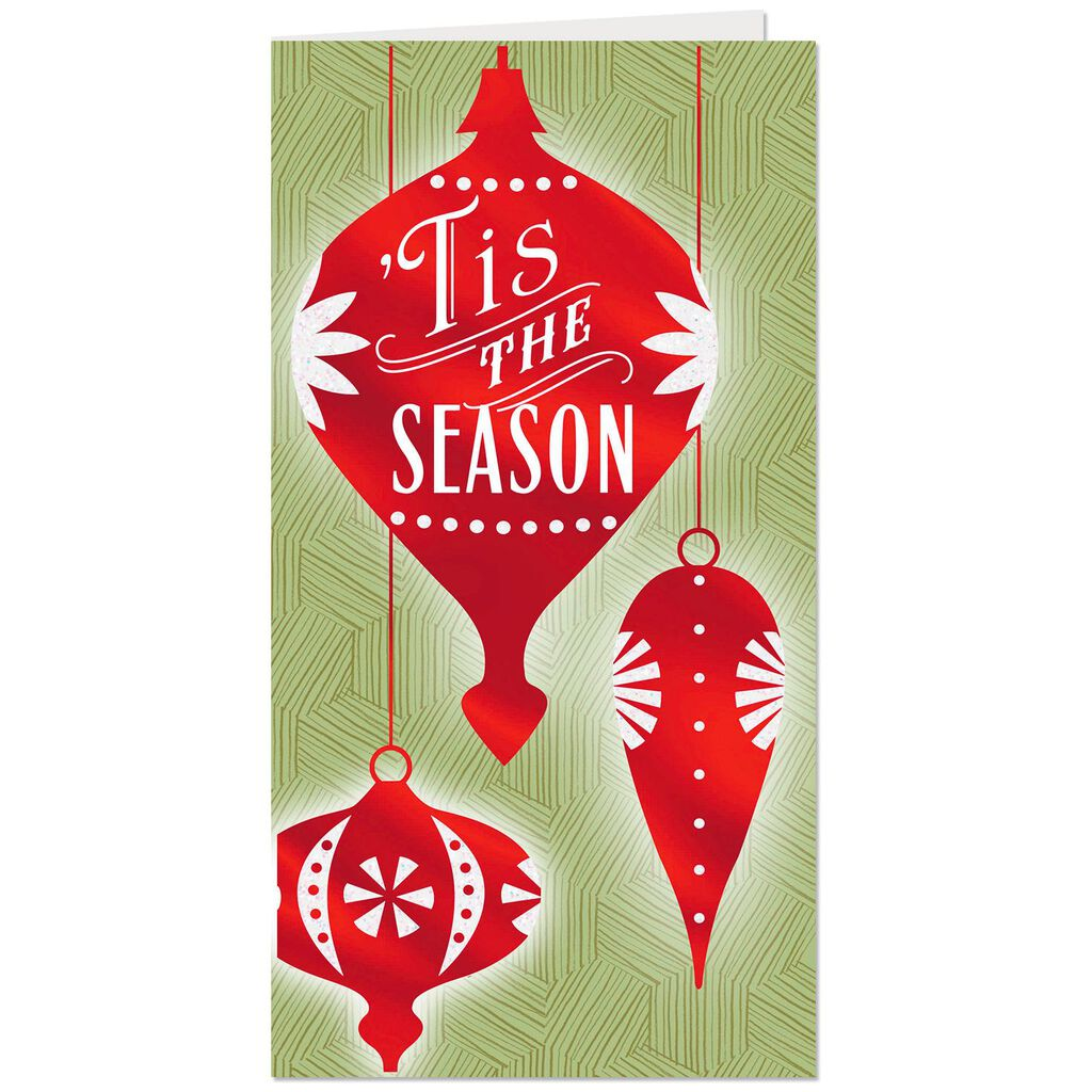 Seasonal Ornaments Money Holder Christmas Cards, Pack of 6 - Boxed ...