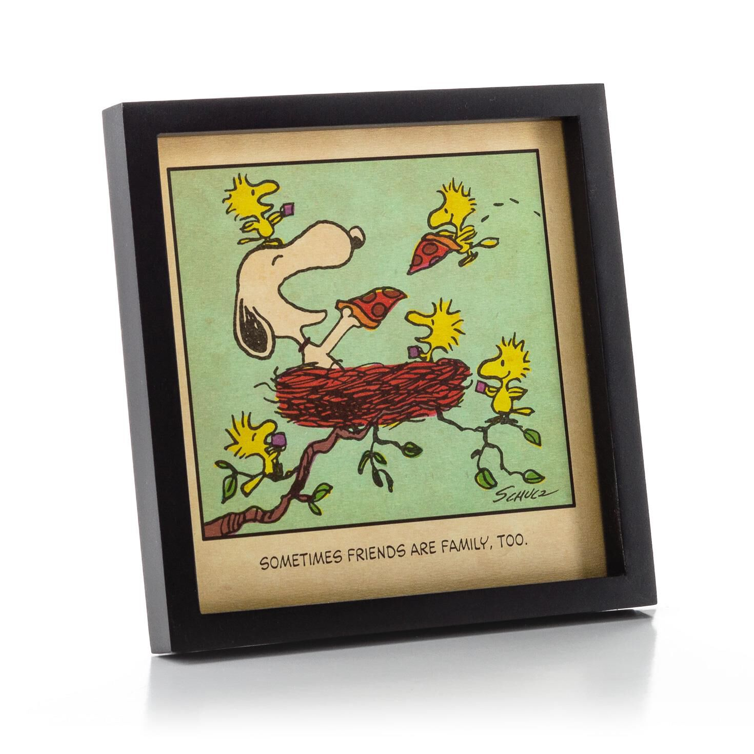 peanuts snoopy and woodstock friends are family framed print framed art prints hallmark