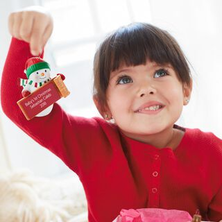 Snowman Personalized Ornament,